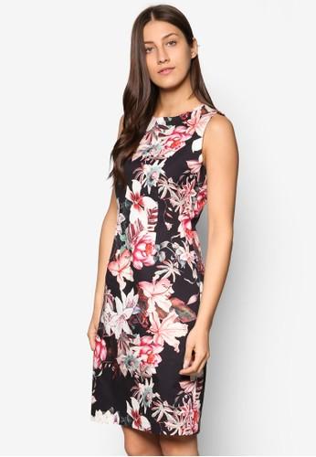 花卉印花直筒式洋裝, 服飾, esprit台灣outlet洋裝