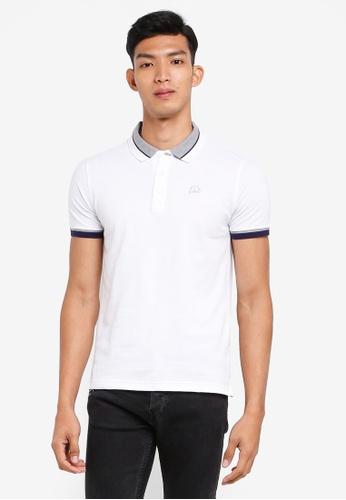 Volkswagen 白色 短袖刺繡POLO衫 DB443AA233A61CGS_1