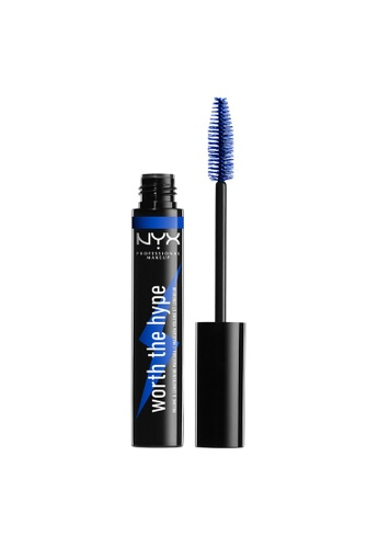 NYX Professional Makeup blue NYX Worth The Hype Volumizing & Lengthening Colored Mascara - BLUE 2FDA4BEC2CD102GS_1