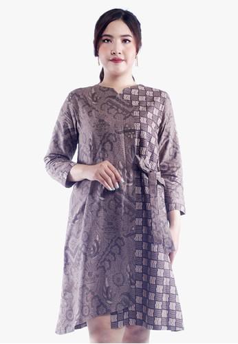 EAJA grey Shasha Dress Batik Wanita Modern 37D41AA8CB592DGS_1
