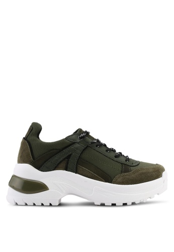 TOPSHOP brown and green Chicago Chunky Trainers 1B273SHF65C270GS_1