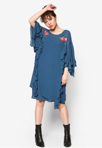 Love 流蘇滾邊雪紡兩件式連身裙, 服esprit 台中飾, 洋裝