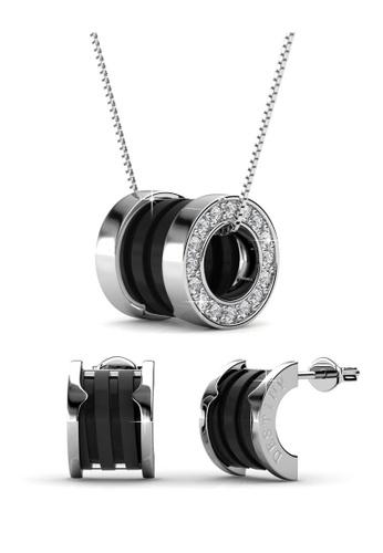 Her Jewellery gold Destiny Ceramic Set (Black) with Premium Grade Crystals from Austria E2FC2AC80B4B08GS_1