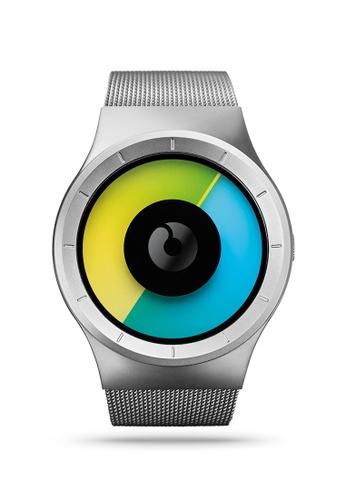 ZIIIRO green and blue and silver Celeste Chrome Colored Watch 73DE9AC966A019GS_1