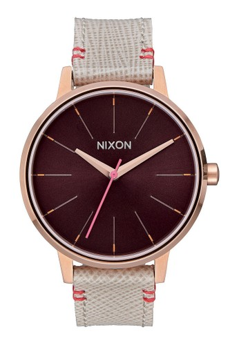 Nixon Watches gold and brown Kensington Leather Watch A3804ACDEF3F21GS_1