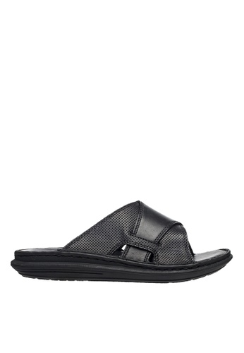 Hush Puppies black Hush Puppies McGrady Slide - Black 1E8A5SH685E102GS_1