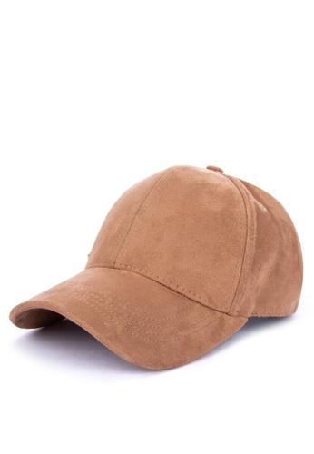 MEMO brown Suede Baseball Cap 0306BAC9A78CD2GS_1