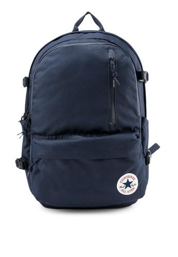 Converse navy Straight Edge Backpack 0D85DAC9A72FB6GS_1
