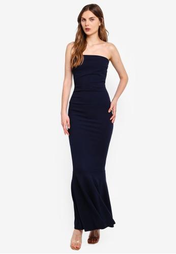 a6c420ab1cf Shop Boohoo Bandeau Fishtail Maxi Dress Online on ZALORA Philippines