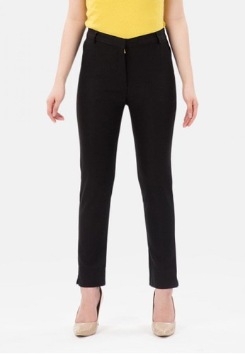 MKY Clothing black Ankle Pants Stretch in Black 32156AA320D538GS_1