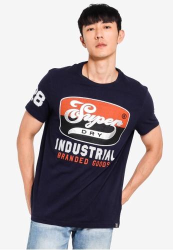 Superdry 海軍藍色 Heritage 經典T恤 86402AA2F60A2DGS_1