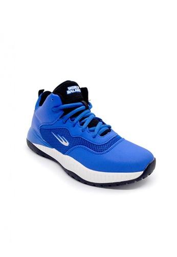 World Balance blue Court Rival Young Kid's Shoes D3C86KS2F89AB8GS_1