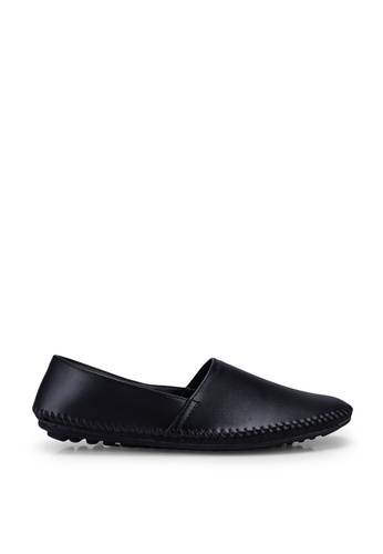 Louis Cuppers black Stitched Detail Loafers 3D8E5SH5792D8FGS_1