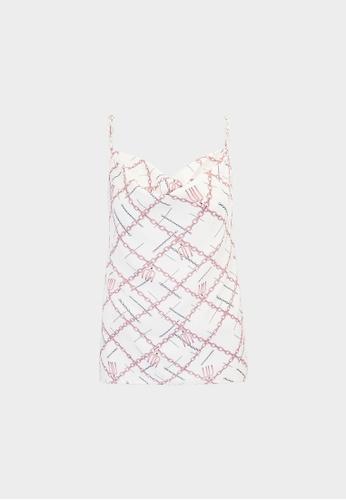 Pomelo white Milin x Pomelo Chain Cowl Cami - White 25304AA9915494GS_1