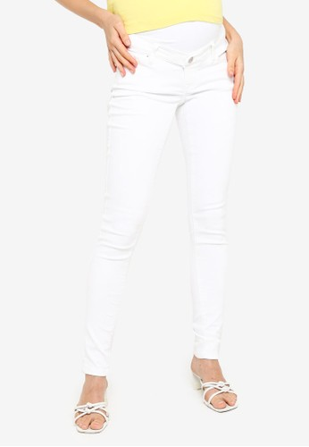 Noppies white Maternity Skinny Romy Pants 5F1E7AA28C2597GS_1