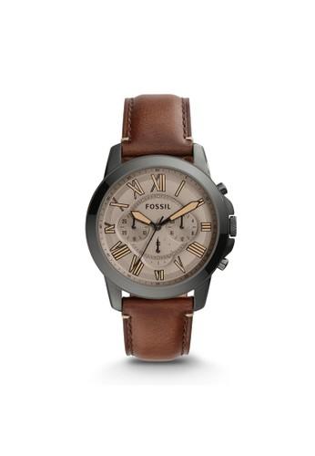 Fossil GRANT紳士型男錶 FS5214, 錶類, 紳esprit高雄門市士錶