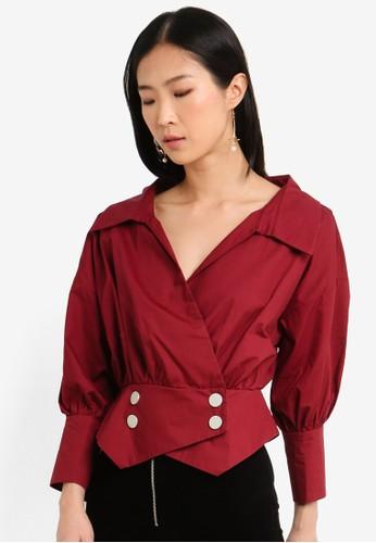 Megane red Red Romance Joyelle Shirt 9A51EAADD1CC88GS_1
