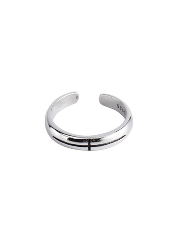 A-Excellence silver Premium S925 Sliver Geometric Ring ED057AC10602ECGS_1