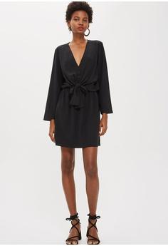 59efe192f71a 55% OFF TOPSHOP Tiffany Knot Mini Dress S  79.90 NOW S  35.90 Sizes 6 8