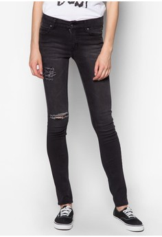 Tight Posted Worn Jeans
