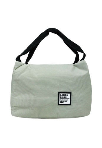 Poly-Pac grey Poly-Pac XI8044 Thermal Insulated Canvas Lunch Box Bag-Grey 0F77AKC4DAD1C8GS_1