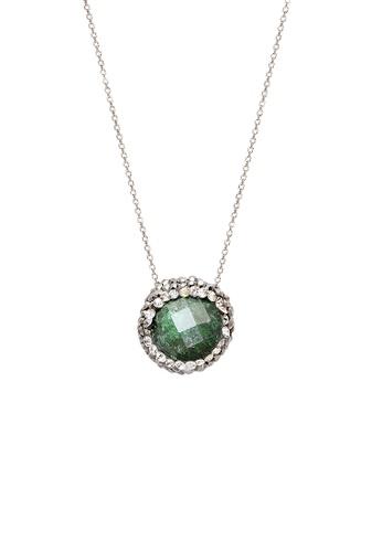Fervor Montreal green Fervor Montreal-Druzy Necklace Round CCF76AC66445ECGS_1
