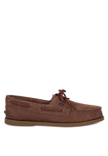 Sperry brown A/O 2-Eye Washable Boat Shoes 8ACCFSHCFF091EGS_1