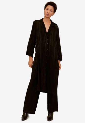 Mango black Long Shirt Dress B7340AA0AECCB5GS_1