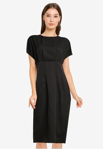 ZALORA WORK black Wide Sleeves Sheath Dress 44F96AAB0B972CGS_1