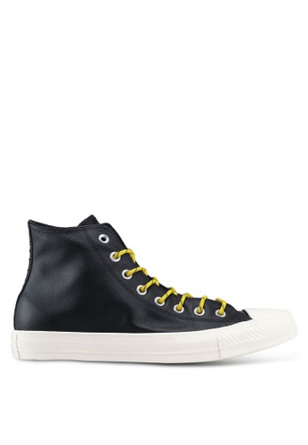 3bb3123aa9b321 Converse black Chuck Taylor All Star Limo Leather Hi Sneakers  F7163SHF147946GS 1