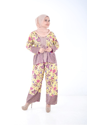 Assie Modesty pink and yellow and purple and multi Java Co-ord Set 9BD2EAAAEAF32BGS_1