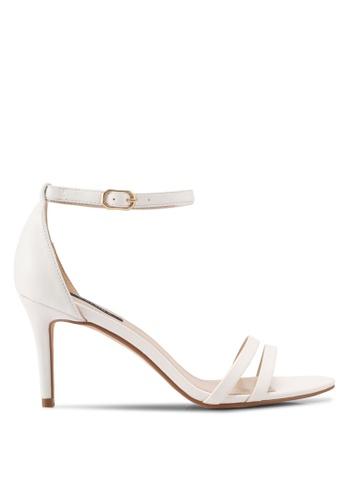 ZALORA white Double Front Strap High Heels 9BFE3SHA768175GS_1