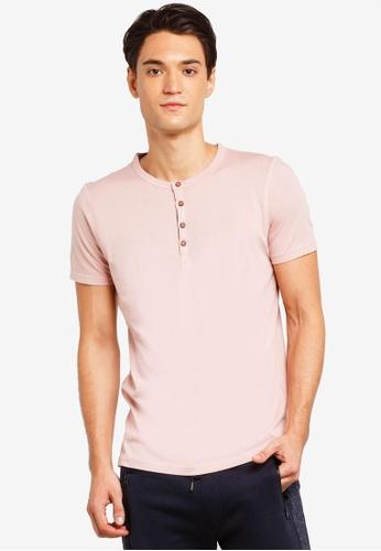 Brave Soul 粉紅色 短袖品牌刺繡T恤 F6BCDAA749BB7AGS_1