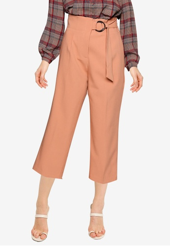 FORCAST brown Rory High-Waisted Belted Pants 1762AAA06E7E2FGS_1