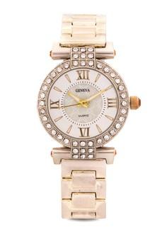 Luxury Roman Mark Alloy Watch With CZ Stone