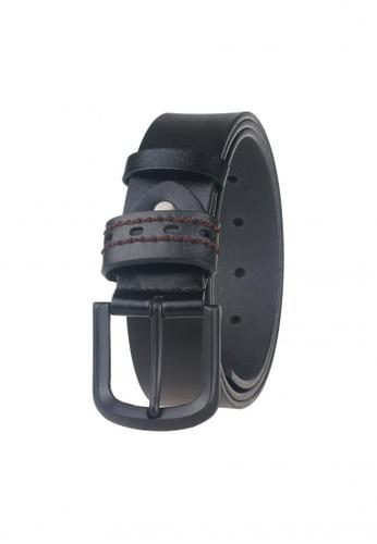 FANYU black Men Genuine Leather Belt Black FA549AC30BFLSG_1