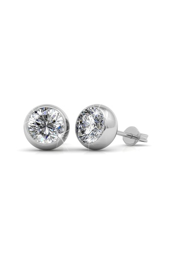 Her Jewellery silver Moon Earrings - Licensed Genuine Crystals from Swarovski® HE581AC0RBI1MY_1