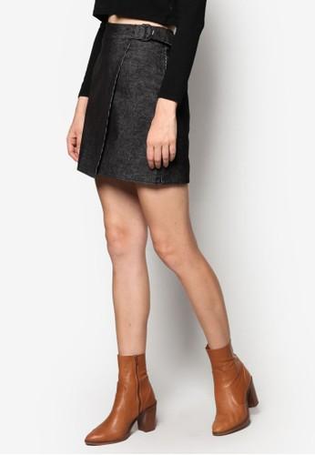 腰esprit 兼職帶裹飾迷你短裙, 服飾, 裙子