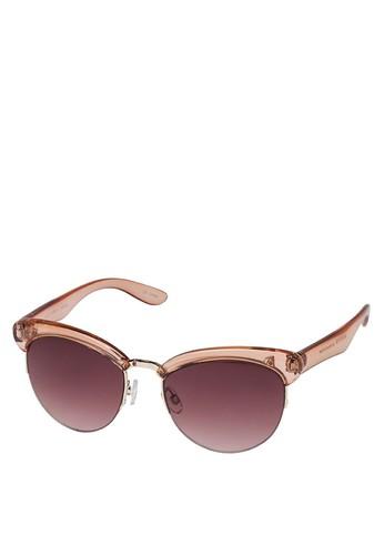 半透明半框太陽眼鏡, 飾品配件, 飾品配zalora 台灣件