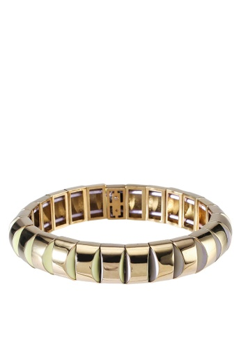 kate spade new york multi Sliced Scallops Small Metal Stretch Bracelet (cv) 255BEACE026D87GS_1
