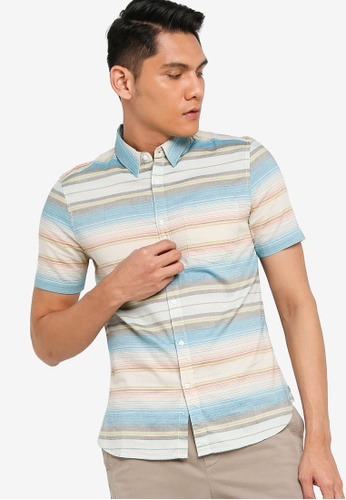 French Connection multi Summer Pastal Stripe Shirt FA130AAF3726B0GS_1