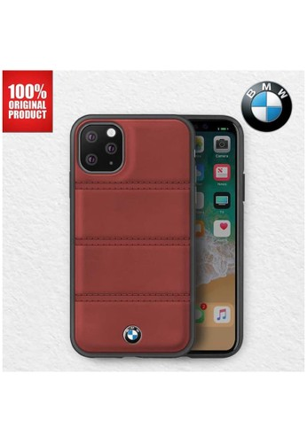 """BMW red BMW - Leather Case Horizontal Lines - Casing iPhone 11 Pro 5.8"""" Burgundy 18C3BES56C7C64GS_1"""