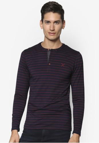 條紋亨利長袖衫esprit台灣, 服飾, 條紋T恤