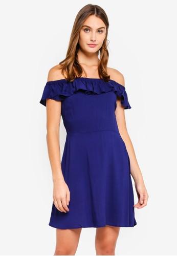 Brave Soul blue Off The Shoulder Dress 77962AAC1E0C3BGS_1