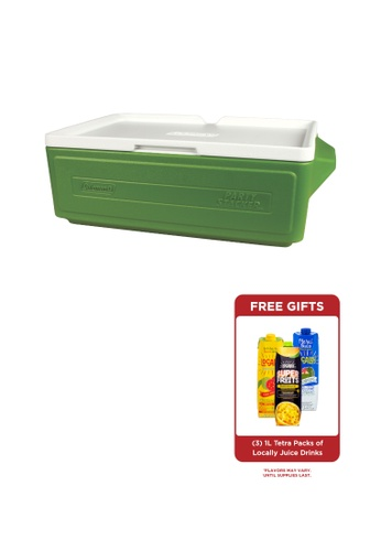 Coleman green 24 Can Portable Party Stacker Cooler C4B67HL283E32BGS_1