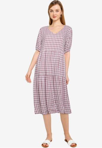 JACQUELINE DE YONG white Megan Life 2/4 Midi Dress 95808AAFA7A6D0GS_1