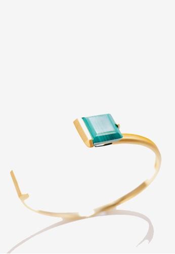 Paradeisos Jewellery green Orbit Malachite Cuff Bangle A323CACE047C4AGS_1