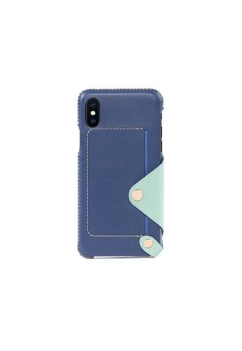 OBX blue Seafoam iPhone X/Xs Leather Pocket Case 9B4EFAC27D4886GS_1