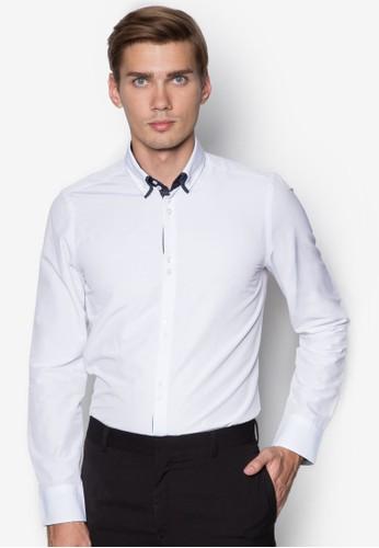 素色長袖襯衫, 服飾,zalora taiwan 時尚購物網 服飾