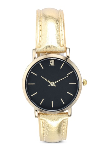 NUVEAU gold Round Face Gold Black And Gold Strap Watch CC8E9ACA6D6DC4GS_1